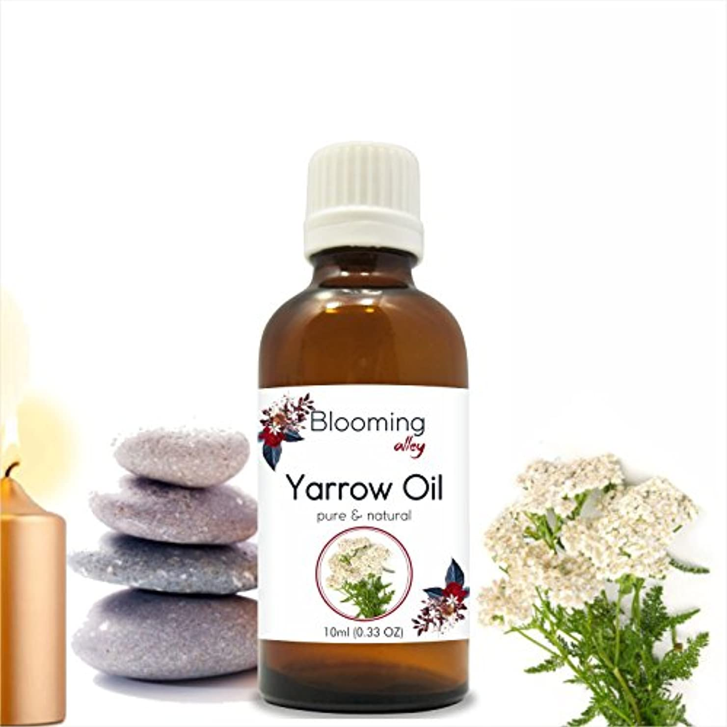 エイズレイ気質Yarrow Oil (Achillea Millefolium) Essential Oil 10 ml or 0.33 Fl Oz by Blooming Alley