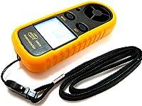 【ぴぴっと】 デジタル 風速計 日本語説明書付き 温度計搭載 手軽で扱いやすい デジタル表示 の ハンディタイプ (お手入れクロス 付き)