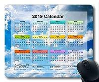 2019カレンダー付き大切な休日用パッド、マウスパッド、スカイハイゲーミングマウスパッド