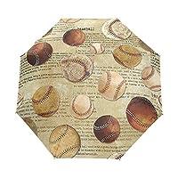折りたたみ傘 野球柄 折り畳み傘 手開き 三つ折り 梅雨対策 晴雨兼用 UVカット 耐強風 8本骨 収納ポーチ付き