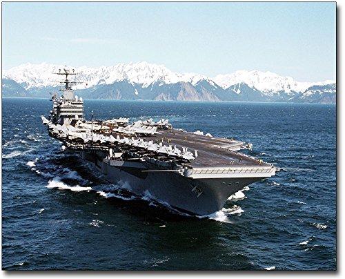 USS Abraham Lincoln Aircraft Carrier 8x 10シルバーHalideフォト印刷