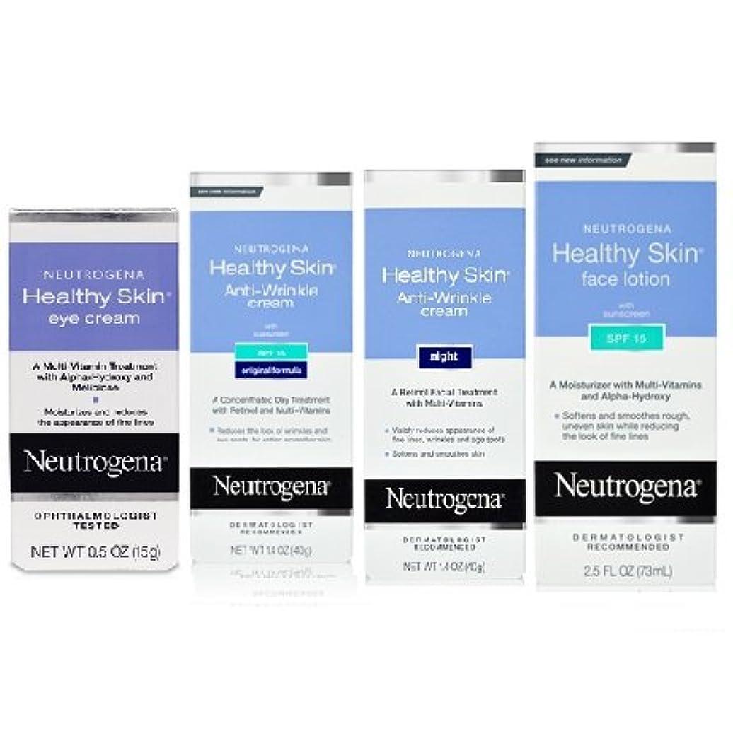 誘う夕暮れ準備する【海外直送品】Neutrogena healthy skin ニュートロジーナ ヘルシースキン フェイシャルケア4点セット