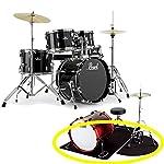 【純正ドラムマット付】Pearl パール RS585C/C No.31 ジェットブラック ROADSHOWシリーズ 2タム仕様 小口径 ドラムセット