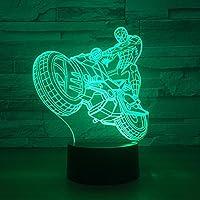 ZY&ZQ 3D ナイトライト3DイリュージョンランプクリエイティブサイクリングLEDナイトライトタッチリモートUSB 7カラーランプ