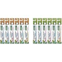 【セット買い】GUM(ガム) デンタル こども 歯ブラシ #76 [乳歯期用/やわらかめ] 6本パック+ おまけつき【Amazon.co.jp限定】 & デンタル こども 歯ブラシ #66 [仕上げみがき用/やわらかめ] 6本パック+ おまけつき【Amazon.co.jp限定】