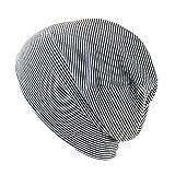 抗がん剤/医療用帽子 オーガニック ガーゼコットンキャップ(M, グレーボーダー)