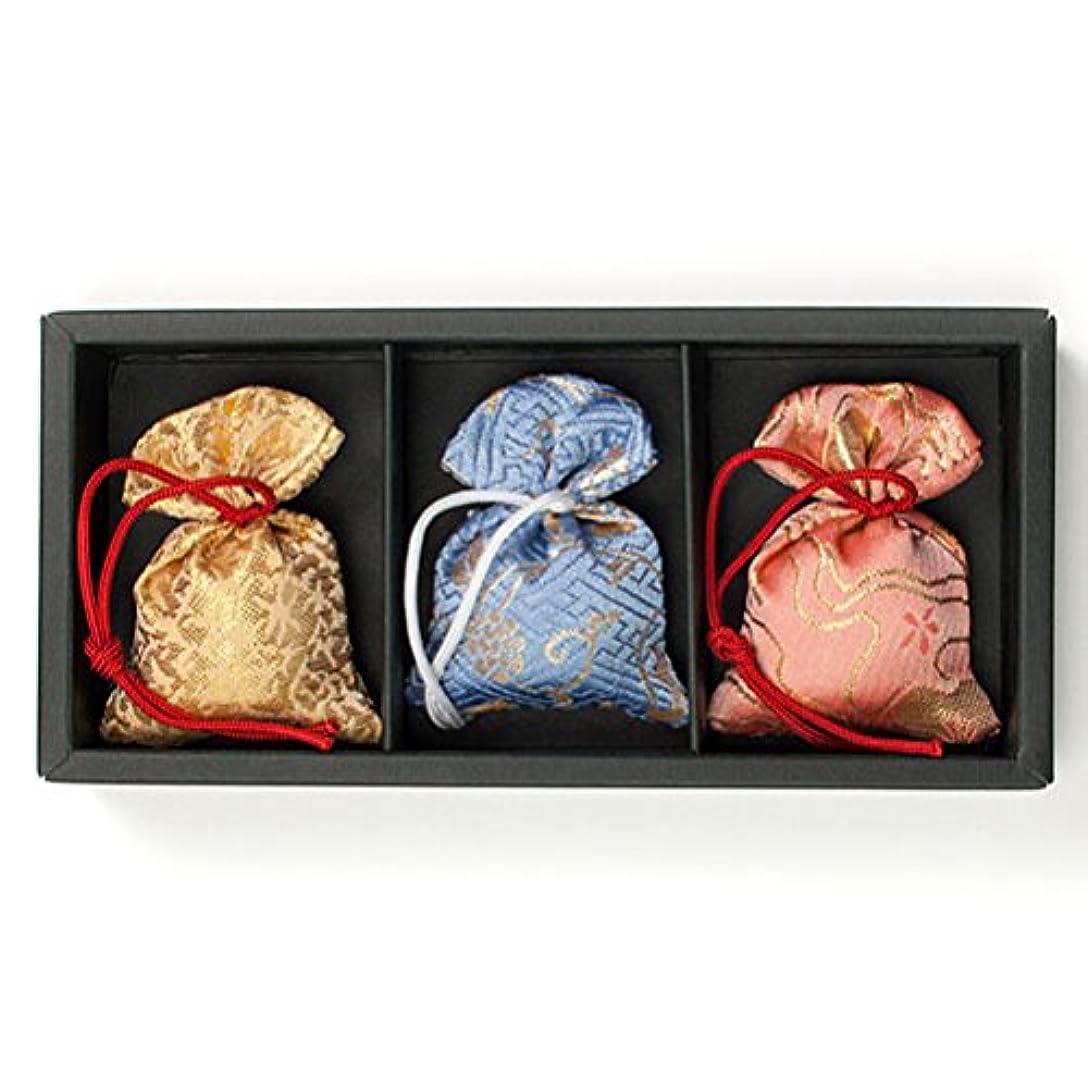 週末ステーキ木製匂い袋 誰が袖 極品 3個入 松栄堂 Shoyeido
