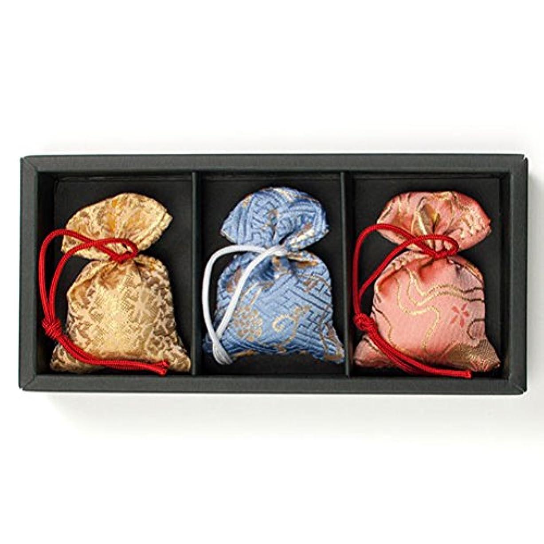 行き当たりばったり凝縮するマージ匂い袋 誰が袖 極品 3個入 松栄堂 Shoyeido