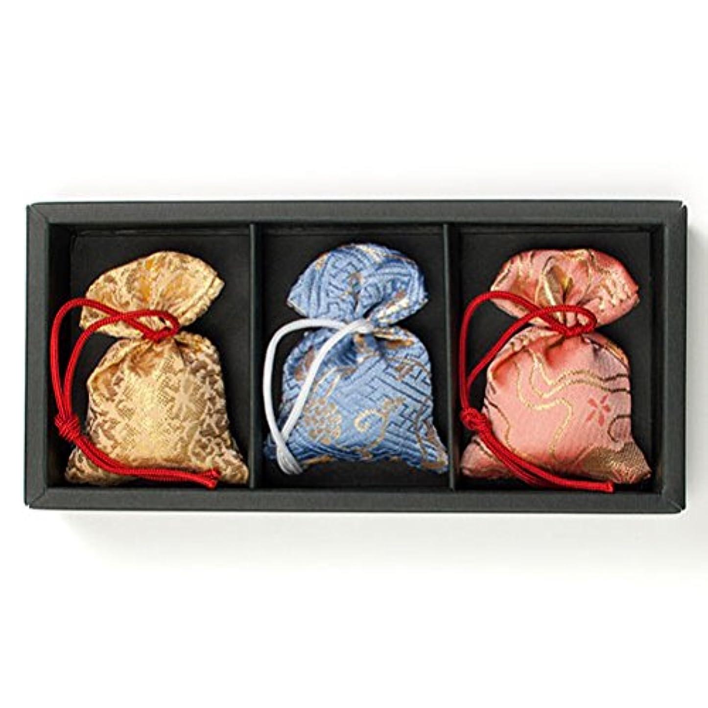宝石含意目に見える匂い袋 誰が袖 極品 3個入 松栄堂 Shoyeido