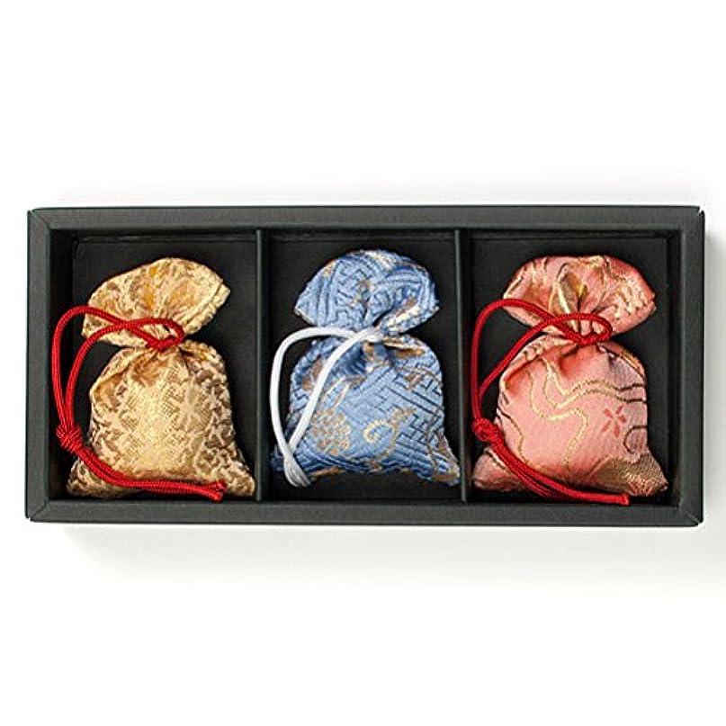 自分自身つかいます用心する匂い袋 誰が袖 極品 3個入 松栄堂 Shoyeido