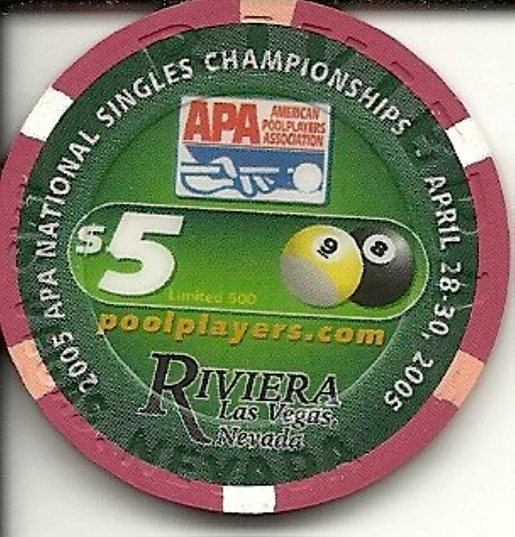$ 5 Rivieraプール選手Obsoleteラスベガスカジノチップ