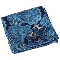 EEF1B01-03 Accessories Microfiber Pocket Square Pattern Cufflinks Set By Epoint