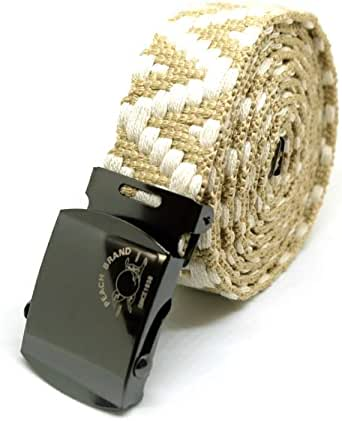 【ピーチブランド】 ガチャベルト 日本製 80年以上続く老舗細巾織物メーカー直販 プレゼント 紳士用 (150㎝, ベージュ)