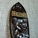 アジアン・バリ木彫り・バリウッド:ようこそいらっしゃい!WELCOMEボードハイビスカスで新登場!