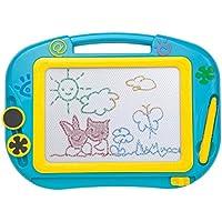 お絵かきボード 4色アップグレード版 お絵描き練習ボード 持ち手付 知育玩具 お誕生日ギフト 磁気ボード プレゼント 贈り物 女の子 男の子 (ブルー)