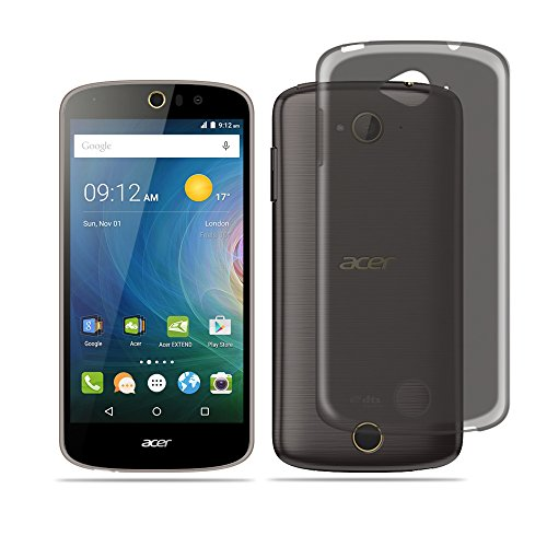 Acer Liquid Z530 ケース 【Qosea】Acer Liquid Z530 カバー 全3色高品質TPU シリコン ケース 落下防止 防指紋 超薄型、軽量TPU素材 ケース (Acer Liquid Z530, グレー)