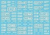 ハイキューパーツ TRデカール2 ナンバー ホワイト(1枚入)