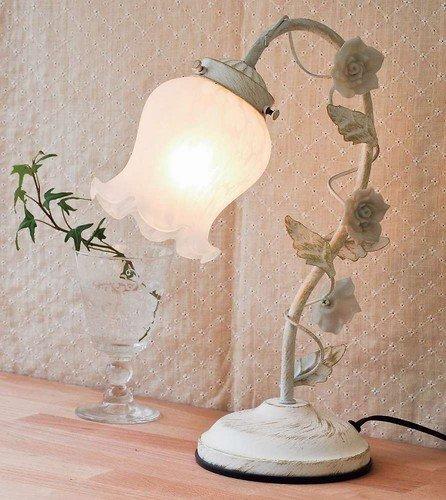 RoomClip商品情報 - アンティーク風 テーブルランプ 1灯タイプ 調光機能付 ホワイト タッチ式