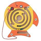 lightclub マグネット 迷路 おもちゃ キッズ 木製パズルゲーム 脳の体操 知的 ジグソーボード 大理石 ランズ ビーズ 迷路 3R8U38PVD6