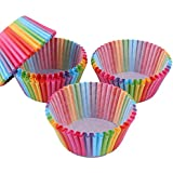 100 Piece Rainbow Paper Cake Cup Cupcake Cases Liners Muffin Kitchen Baking Wedding Party Cake Accessories