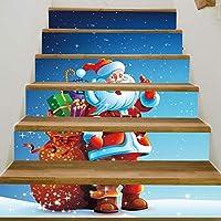 CATYAA DIYステイステッカーリムーバブル壁ステーキステッカー自己粘着クリスマスサンタタイルステイステッカー (Color : C)