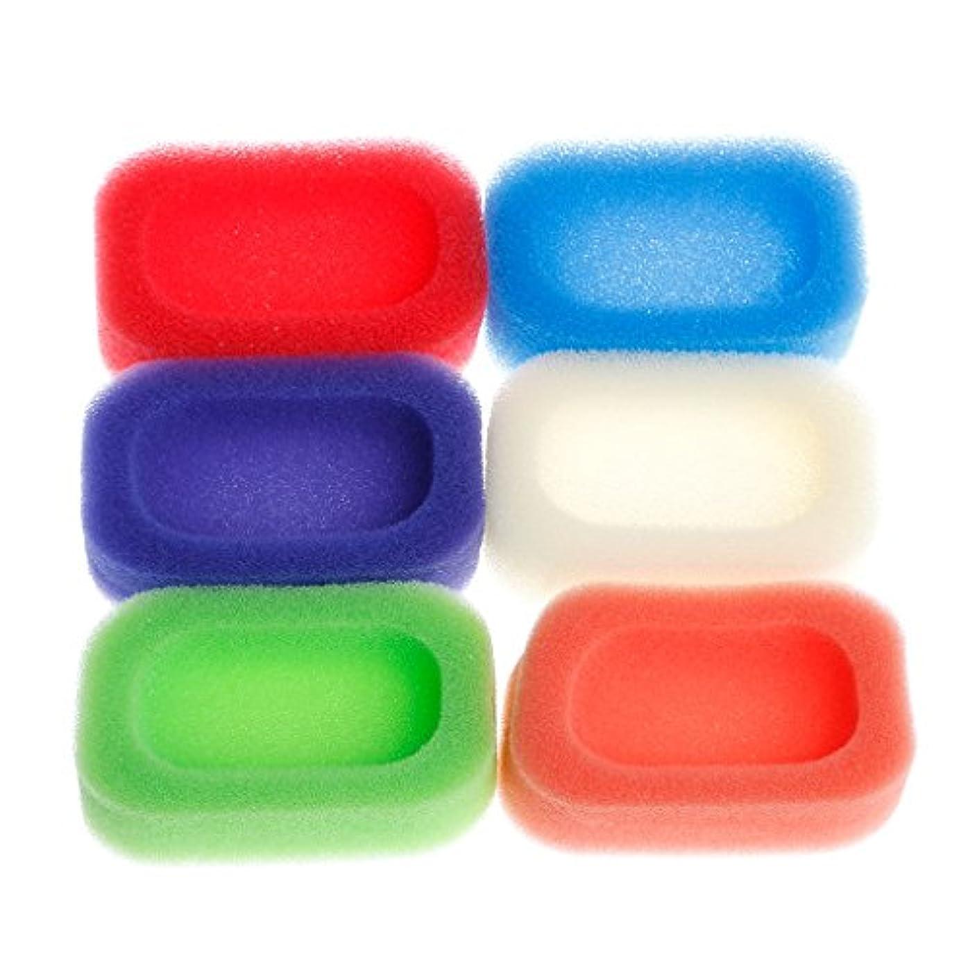 無限大頻繁に均等にLamdoo浴室キッチンメッシュスポンジソープボックスホルダーディッシュトレイコンテナランダムカラー