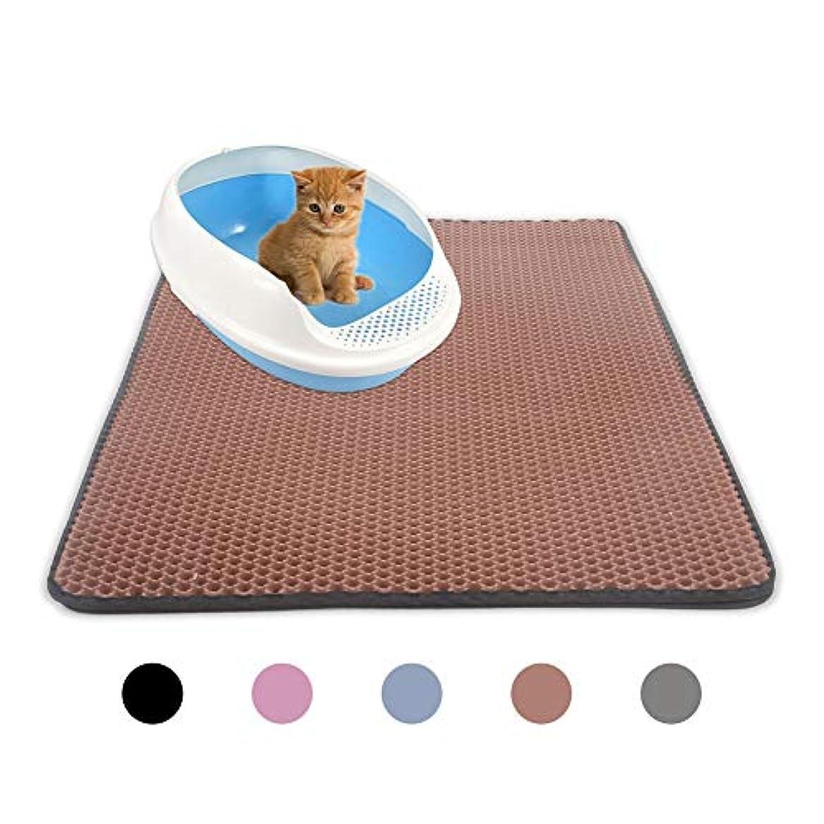 腐った守銭奴消毒剤Kicat® 猫用トイレのパッド2層防水猫用トイレのマットペットフットマッサージパッド (XL: 55*75 cm, 004:ブラウン)