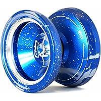 ヨーヨー,MAGIC YOYO マジックヨーヨー スタイルM002 アシッドウォッシュカラー アルマイト表面とステンレスセンターベアリング 青+金色