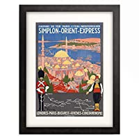 Roger Broders 「Simplon-Orient-Express. Ca. 1922 (printed by F. Champenois, Paris)」 額装アート作品