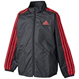 (アディダス)adidas トレーニングウェア エッセンシャルズ ウィンドジャケット BIK72 [ボーイズ] AP3673 ブラック/パワーレッド J160