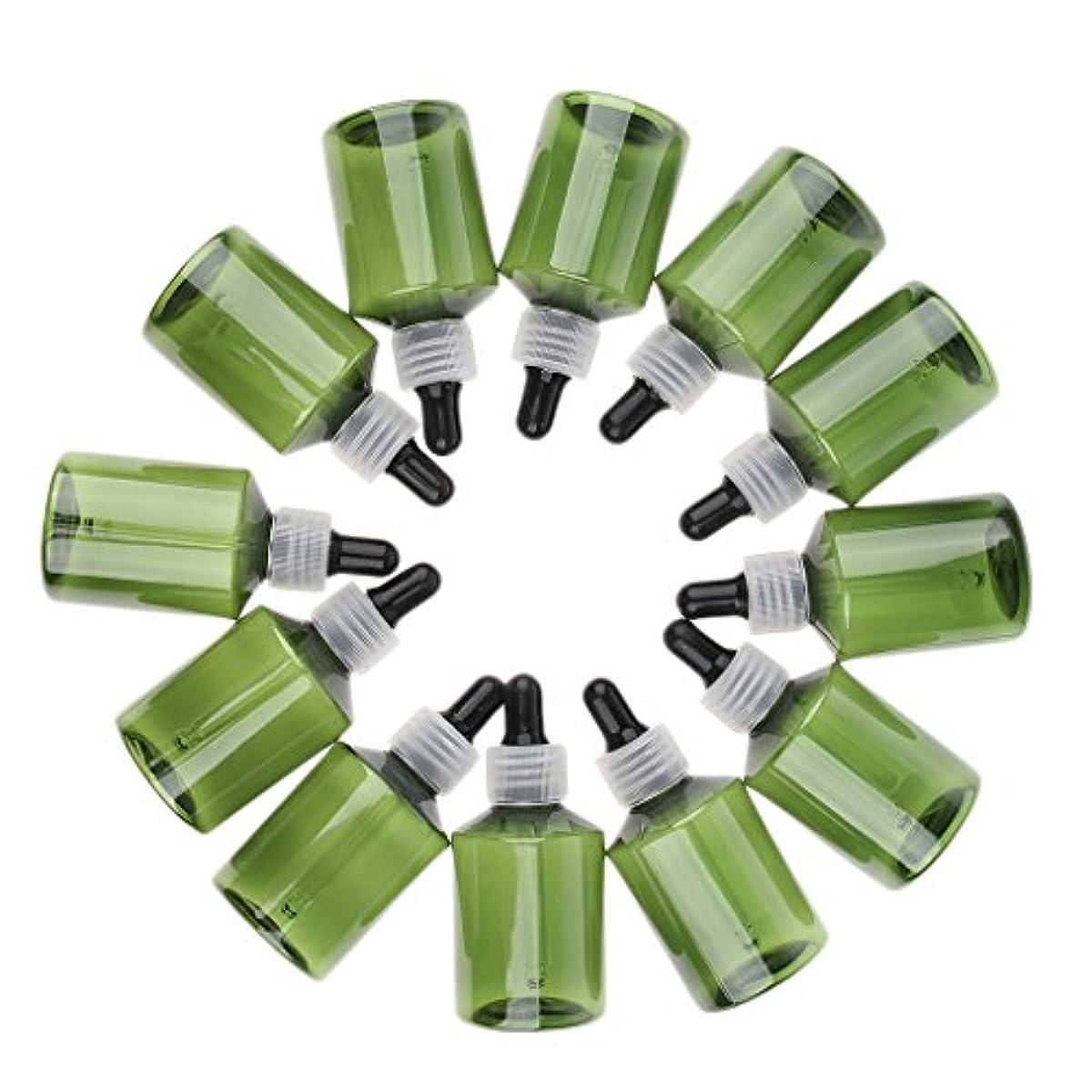 噴火ネーピアショートドロッパーボトル エッセンシャルオイル 精油ボトル 小分け容器 詰め替え 50ml 6仕様選べ - クリアキャップブラックドロッパー
