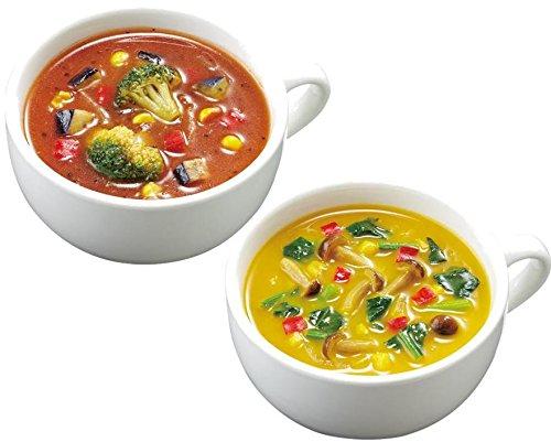 アマノフーズ 食べる温野菜スープ2種セット6食 69g