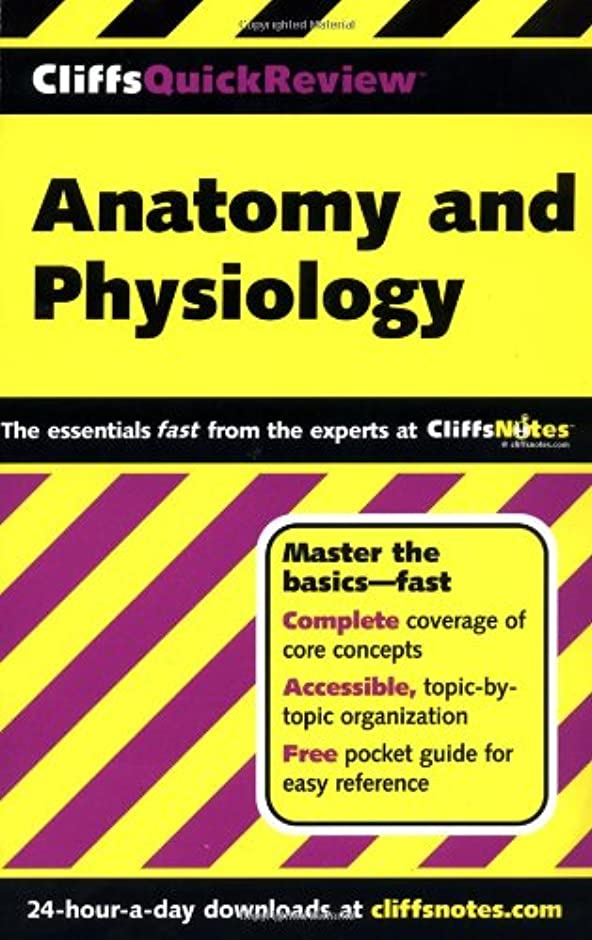アトミック底販売員CliffsQuickReview Anatomy and Physiology (Cliffs Quick Review)