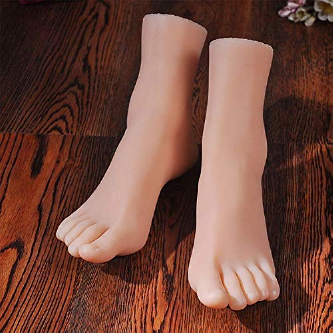 触覚その間着実にスケッチネイルアートの練習ジュエリー靴ソックス表示(ペア)としてシリコーン女性の足のライフサイズマネキン