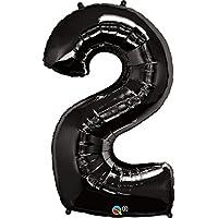 クォラテックス社バルーン数字 (2)大きさ約90センチ ブラック Qualatex number big baloon お誕生日 飾り 数字 ナンバー