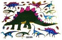 【ノーブランド品】 キラキラシール  恐竜(ダイナソー) ★★