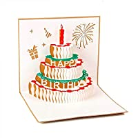 Paper Spiritz 誕生日カード 男の子 女の子 バースデーカード 立体 クリスマスカード birthday card ポップアップカード