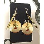 シンバル ドラムスティック ピアス Sabian Gold Drumsticks and Cymbal Earrings