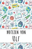 Notizen von Ulf: Liniertes Notizbuch fuer deinen personalisierten Vornamen