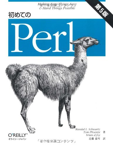 初めてのPerl 第5版の詳細を見る