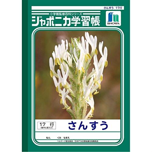 ジャポニカ学習帳 B5判17行(縦中心罫入り) さんすう JL-4