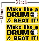ドラムとビートのようなものにして、I Make DecalsR(2個パック)ランチボックス、ツールボックス、電話、ハードハット、ビニール、デカールカーステッカー