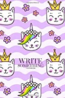 Notebook - Write something: Cat snouts on a wavy violet background notebook, Daily Journal, Composition Book Journal, College Ruled Paper, 6 x 9 inches (100sheets)