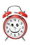 【Y's factory】スマイル 目覚まし時計 置き時計 アラーム クロック ニコちゃん (レッド)