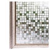 CottonColors 3D窓用フィルム 目隠しシート 何度でも貼り直せる 窓ガラスフィルム 遮熱 紫外線カット のりなし プライバシーガラスフィルム DIY 45x200cm [石道011]