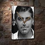 GEORGE CLOONEY / ジョージ・クルーニー - キャンバスクロック(A5 - アーティストによって署名されました) #js001