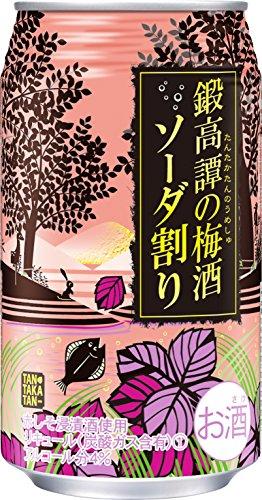 合同酒精 鍛高譚の梅酒 ソーダ割り 350ml×24本