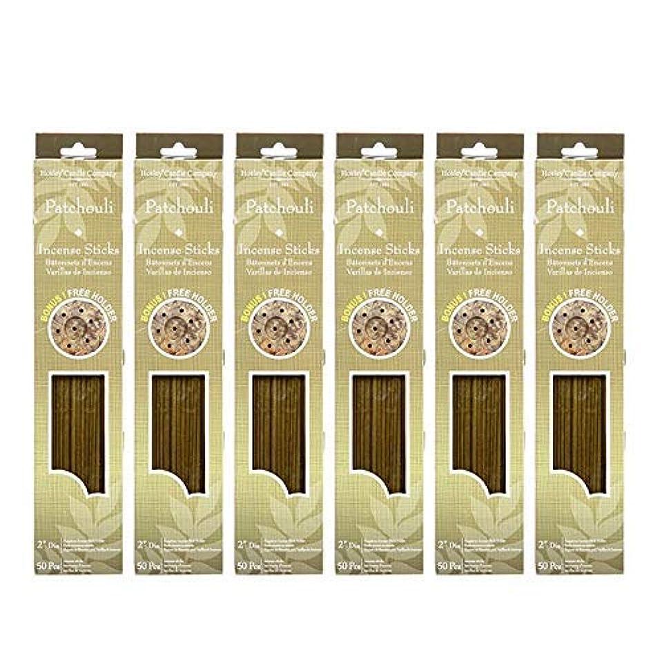 耐えられる合成皿Hosley 300 Incense Sticks /約300 gm。パチュリHighly Fragranced Incense withボーナスホルダー。手Fragranced、Infused with Essential...