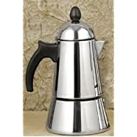 Konica 6-Cup Stainless Steel Stove Top Espresso Maker by GAT