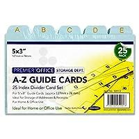 "Premier 5x 3"" A - Zインデックスカード、25パック"